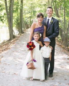 Julie, her husband Rich and their two children.